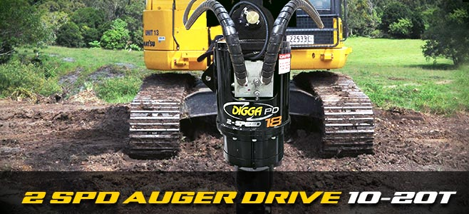 Auger drives: 2 speed for excavators 10-20 tonnes - Digga Europe