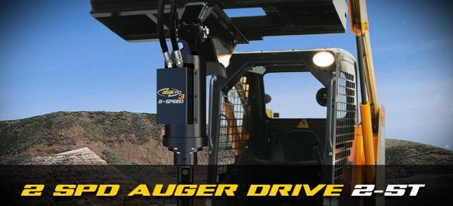 Auger drives: 2 speed for skid steer loaders 2-5 tonnes - Digga Europe