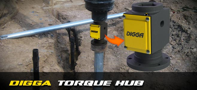 Torque Hub for screw piling applications - Digga Europe
