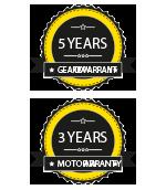 Digga Europe - 5YR Gearbox & 3yr Motor Warranty